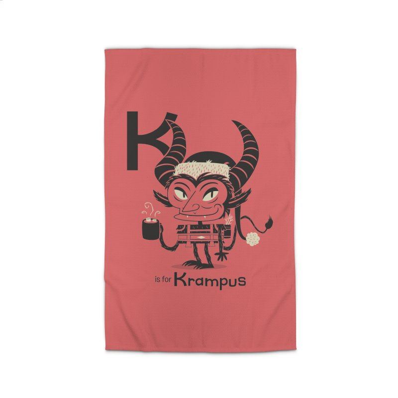 K is for Krampus Home Rug by Hazy Dell Press