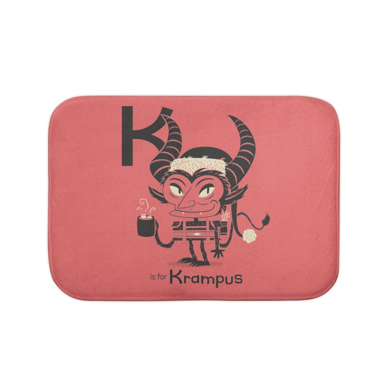 K is for Krampus Home Bath Mat by Hazy Dell Press