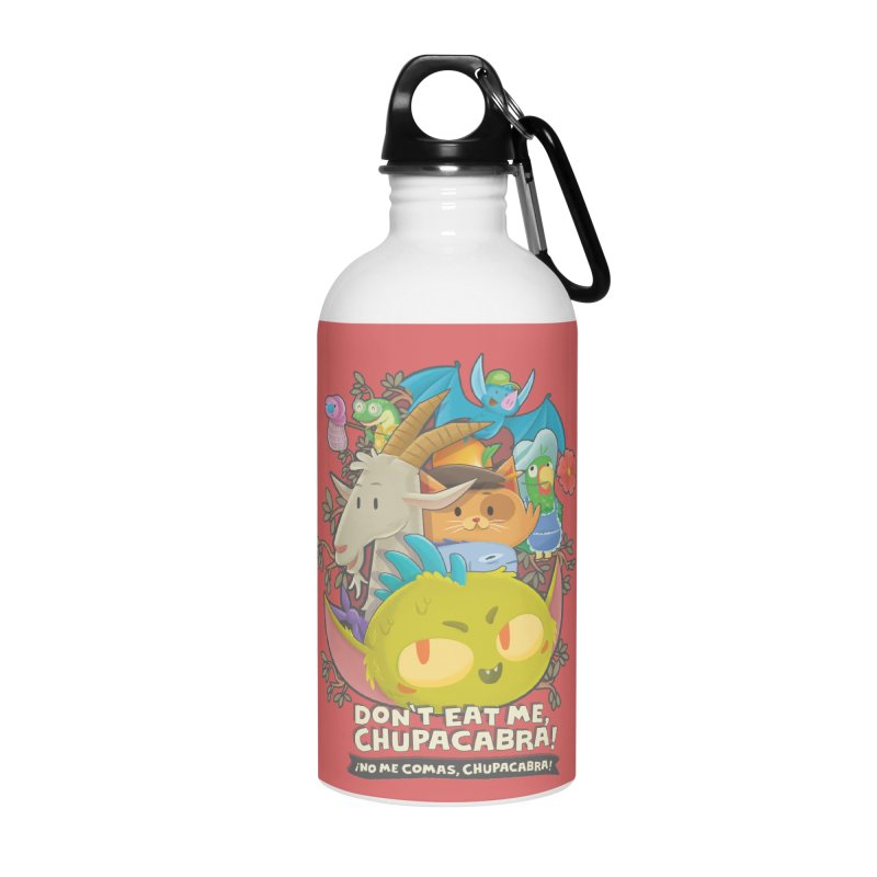Don't Eat Me, Chupacabra! Accessories Water Bottle by Hazy Dell Press