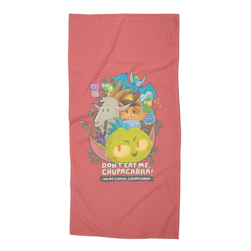 Don't Eat Me, Chupacabra! Accessories Beach Towel by Hazy Dell Press