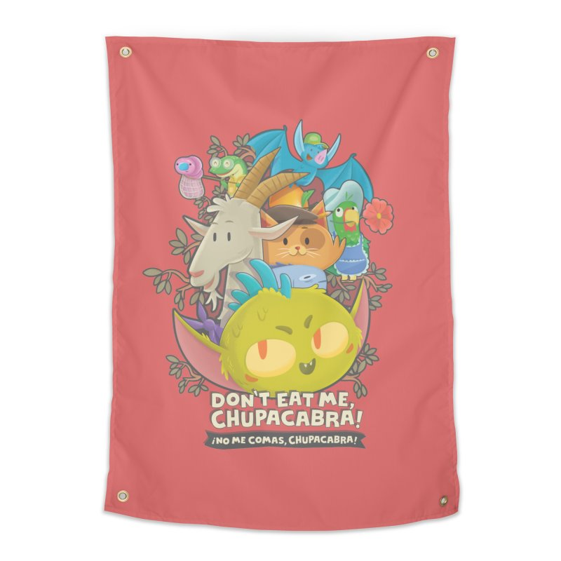 Don't Eat Me, Chupacabra! Home Tapestry by Hazy Dell Press