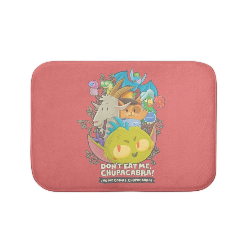 Don't Eat Me, Chupacabra! Home Bath Mat by Hazy Dell Press