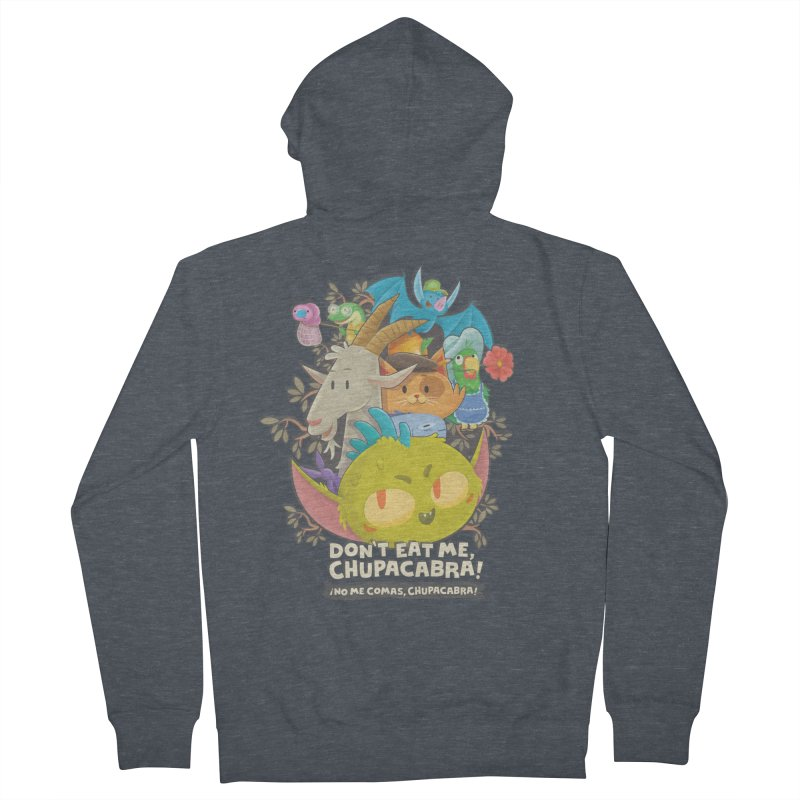 Don't Eat Me, Chupacabra! Women's French Terry Zip-Up Hoody by Hazy Dell Press
