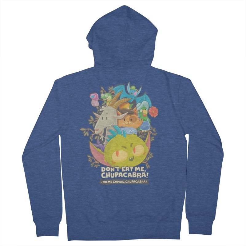 Don't Eat Me, Chupacabra! Men's French Terry Zip-Up Hoody by Hazy Dell Press