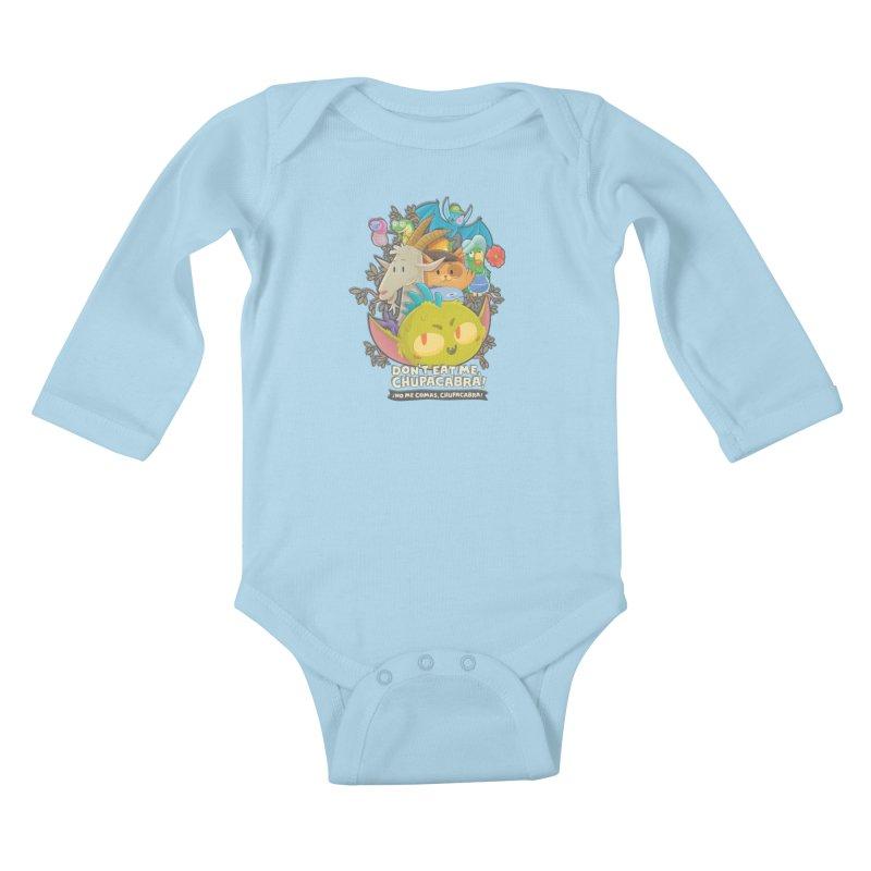 Don't Eat Me, Chupacabra! Kids Baby Longsleeve Bodysuit by Hazy Dell Press