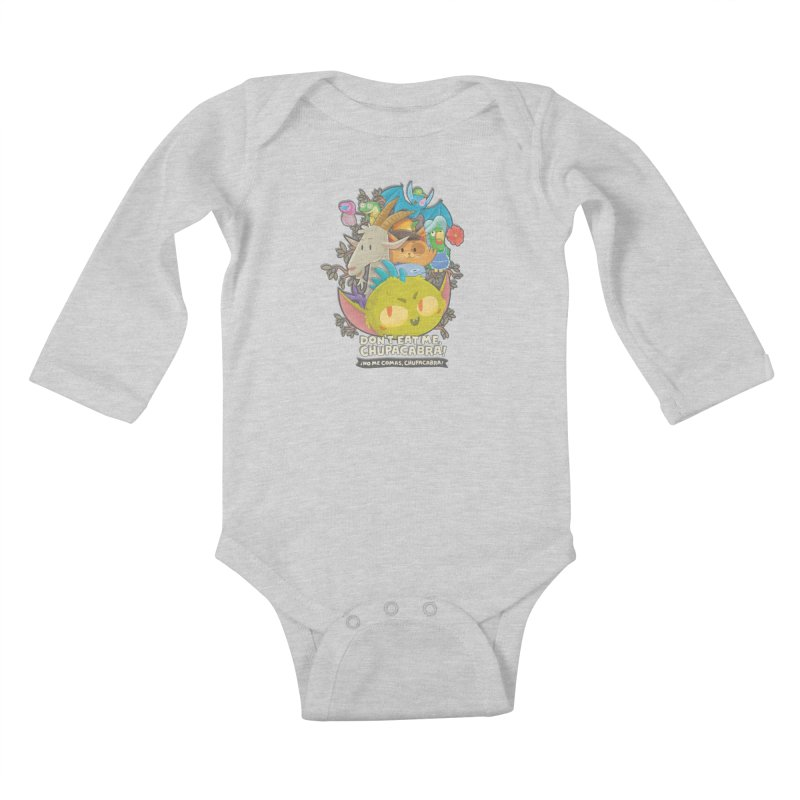 Don't Eat Me, Chupacabra! Kids Baby Longsleeve Bodysuit by Hazy Dell Press