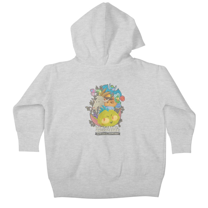 Don't Eat Me, Chupacabra! Kids Baby Zip-Up Hoody by Hazy Dell Press