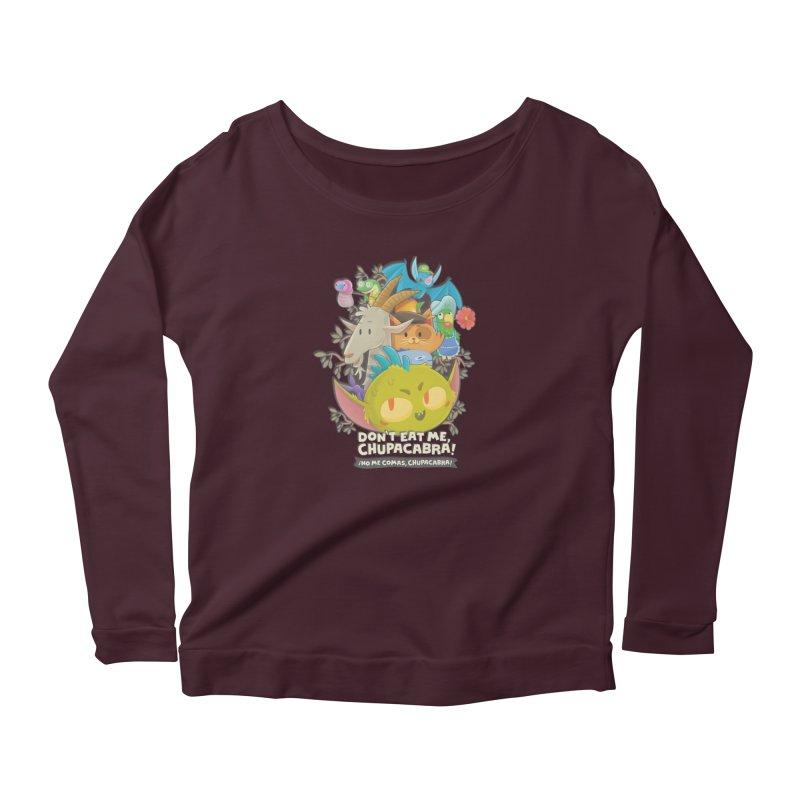Don't Eat Me, Chupacabra! Women's Scoop Neck Longsleeve T-Shirt by Hazy Dell Press
