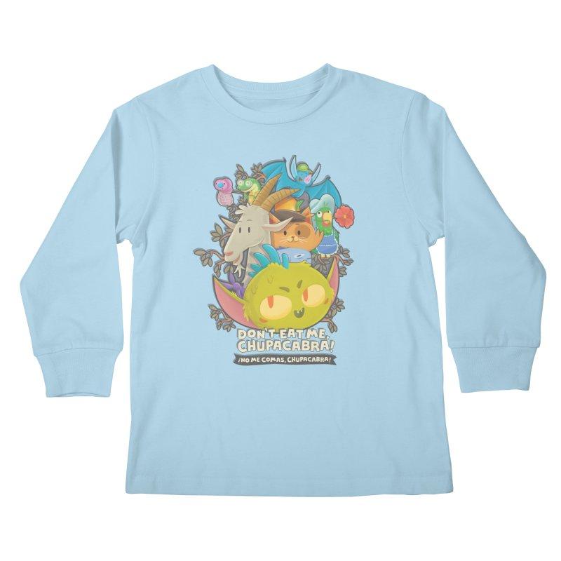 Don't Eat Me, Chupacabra! Kids Longsleeve T-Shirt by Hazy Dell Press
