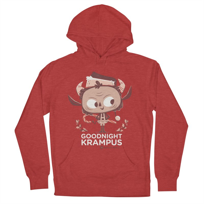 Goodnight Krampus Men's French Terry Pullover Hoody by Hazy Dell Press