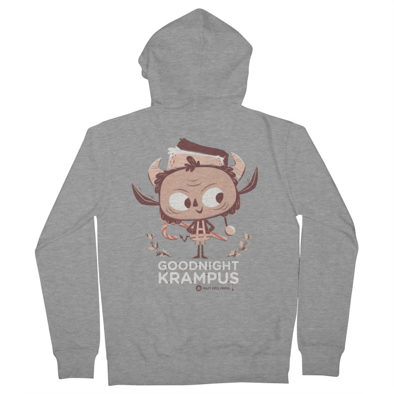 Goodnight Krampus Men's French Terry Zip-Up Hoody by Hazy Dell Press