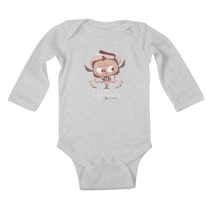 Goodnight Krampus Kids Baby Longsleeve Bodysuit by Hazy Dell Press