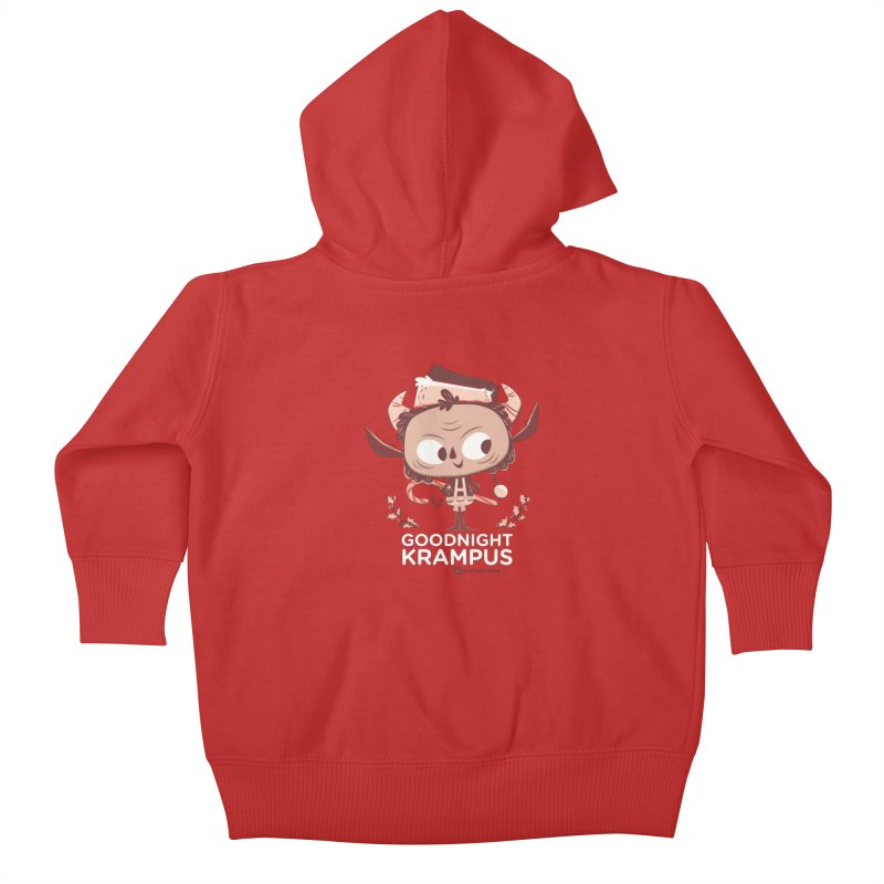 Goodnight Krampus Kids Baby Zip-Up Hoody by Hazy Dell Press