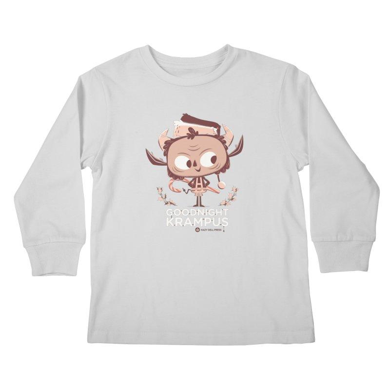 Goodnight Krampus Kids Longsleeve T-Shirt by Hazy Dell Press