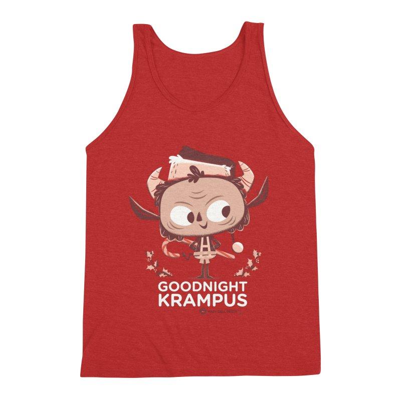 Goodnight Krampus Men's Triblend Tank by Hazy Dell Press