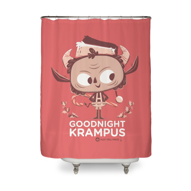 Goodnight Krampus Home Shower Curtain by Hazy Dell Press