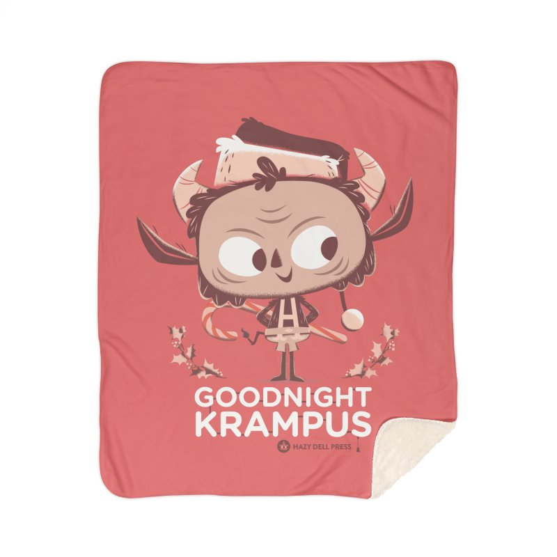 Goodnight Krampus Home Sherpa Blanket Blanket by Hazy Dell Press