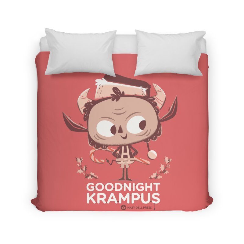 Goodnight Krampus Home Duvet by Hazy Dell Press