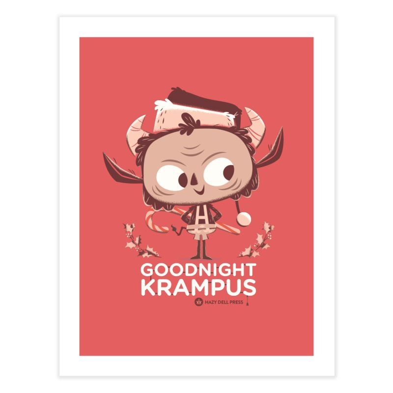 Goodnight Krampus Home Fine Art Print by Hazy Dell Press