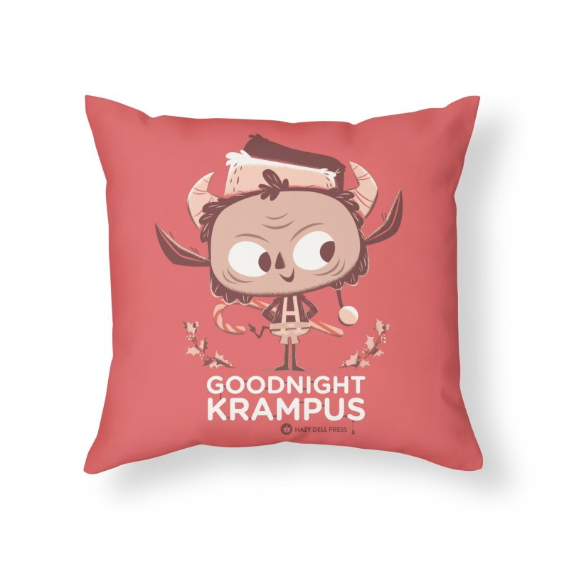Goodnight Krampus Home Throw Pillow by Hazy Dell Press