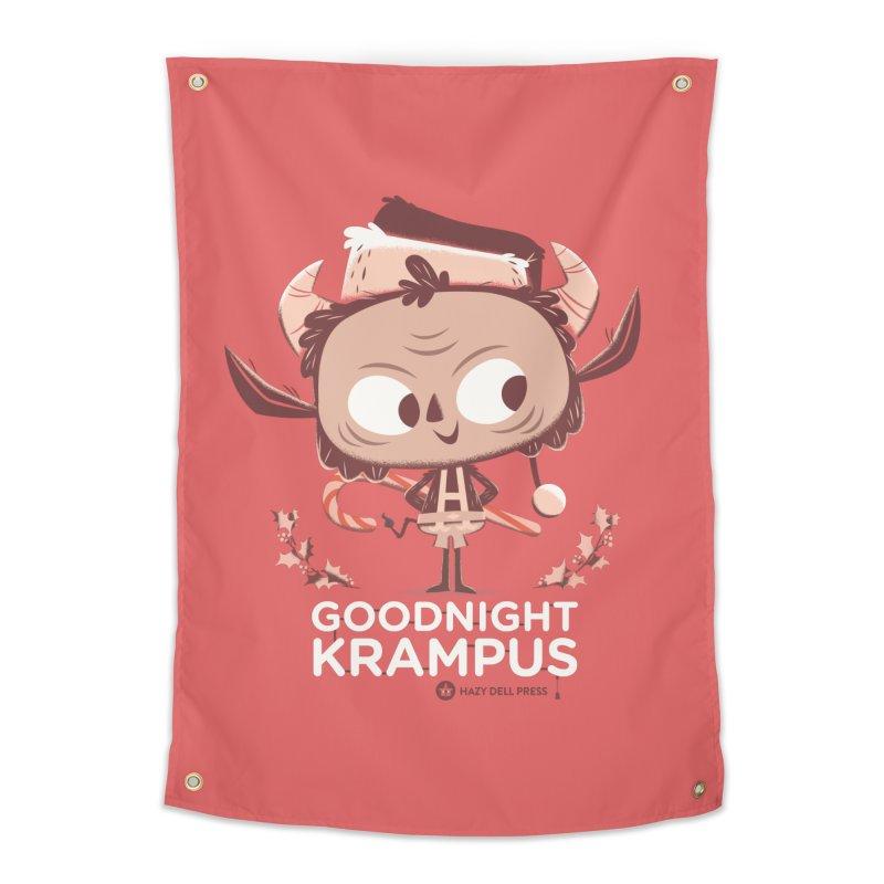 Goodnight Krampus Home Tapestry by Hazy Dell Press