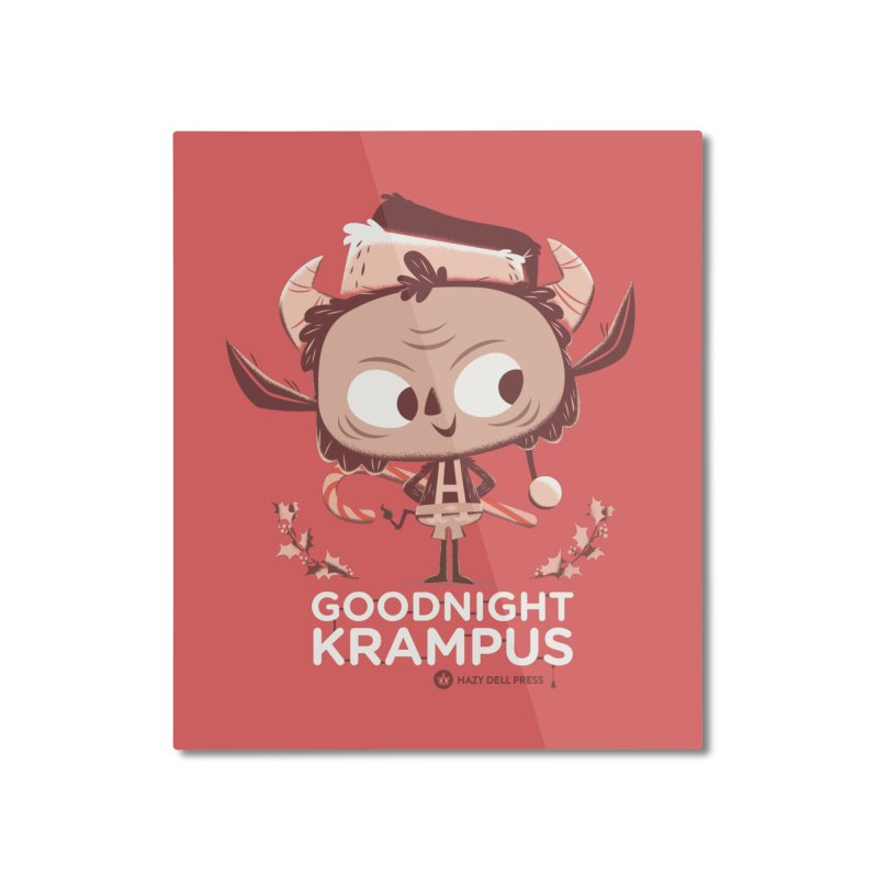 Goodnight Krampus Home Mounted Aluminum Print by Hazy Dell Press