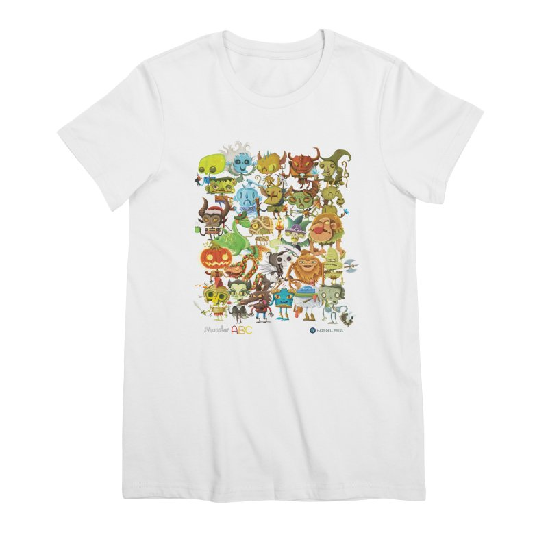 Monster ABC Women's Premium T-Shirt by Hazy Dell Press