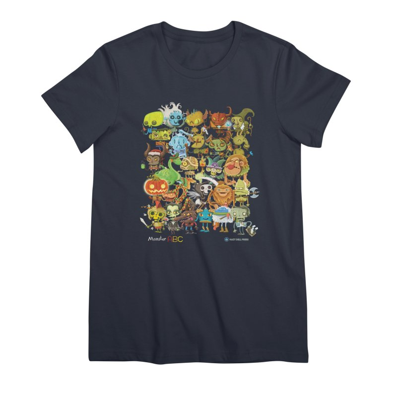 Monster ABC Women's Premium T-Shirt by Hazy Dell Press