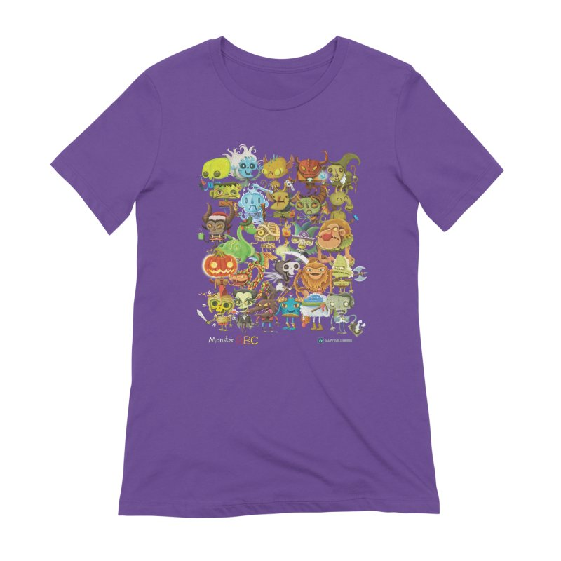 Monster ABC Women's Extra Soft T-Shirt by Hazy Dell Press