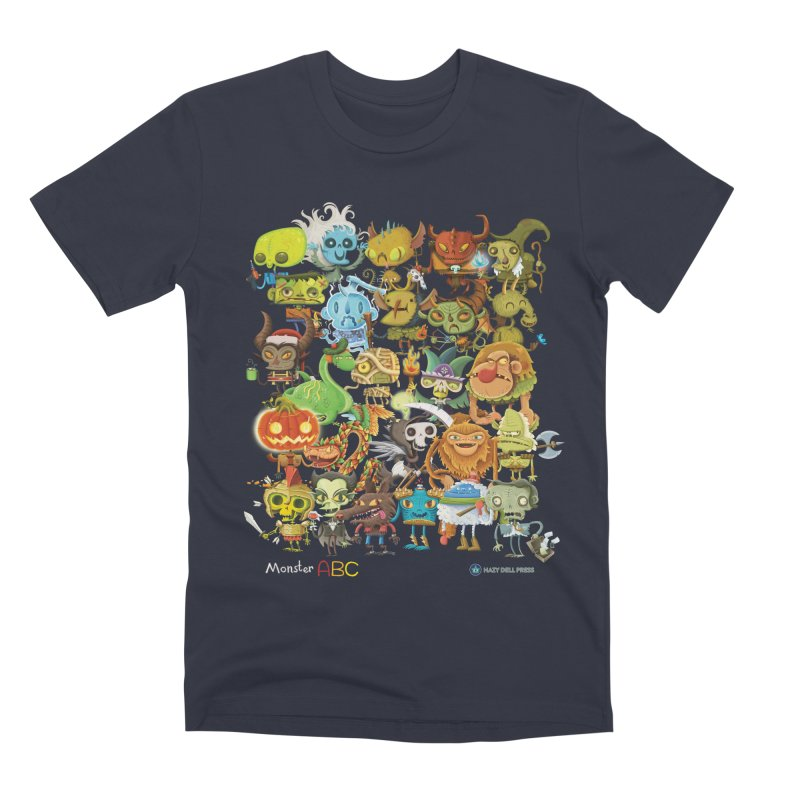 Monster ABC Men's Premium T-Shirt by Hazy Dell Press