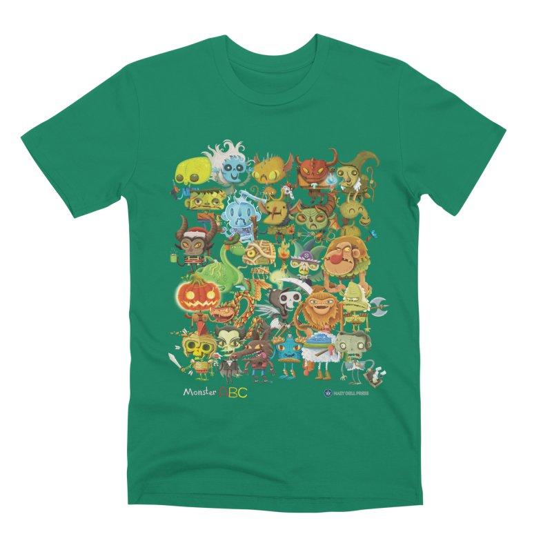 Monster ABC Men's Premium T-Shirt by Hazy Dell Press