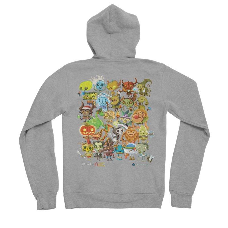 Monster ABC Men's Sponge Fleece Zip-Up Hoody by Hazy Dell Press