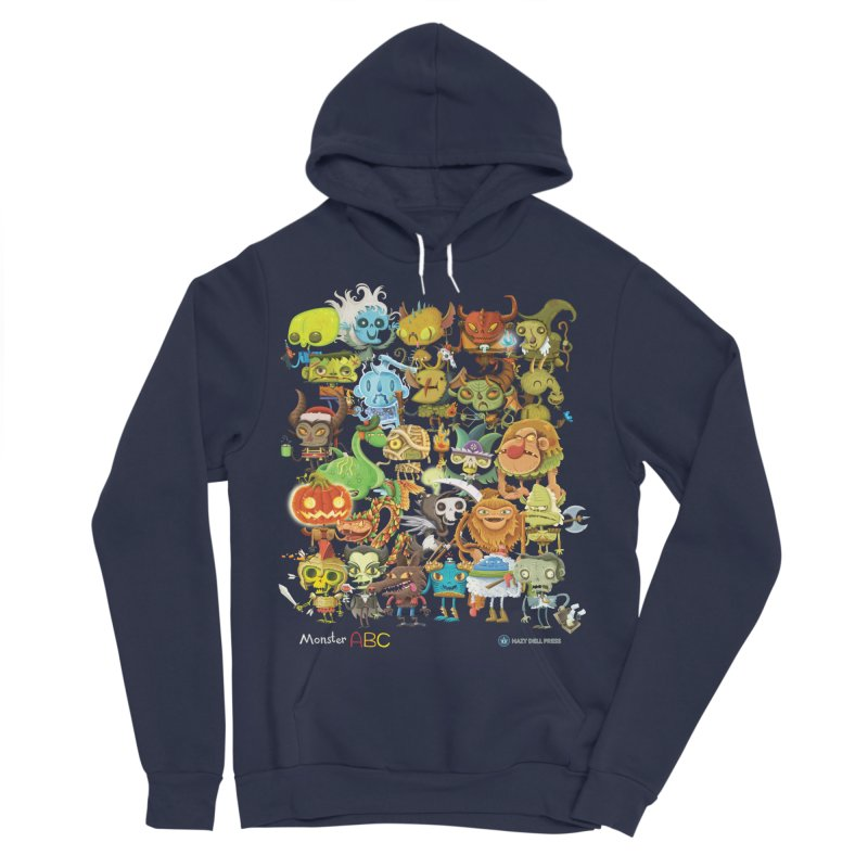 Monster ABC Men's Sponge Fleece Pullover Hoody by Hazy Dell Press