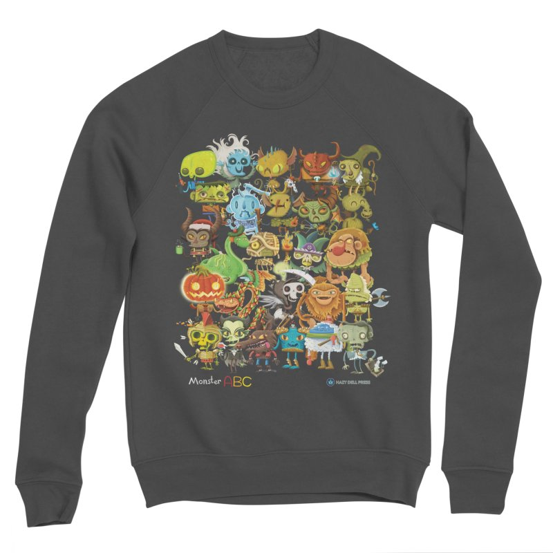 Monster ABC Men's Sponge Fleece Sweatshirt by Hazy Dell Press