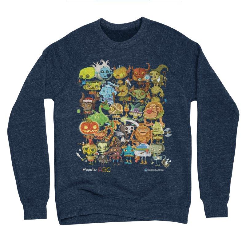 Monster ABC Women's Sponge Fleece Sweatshirt by Hazy Dell Press