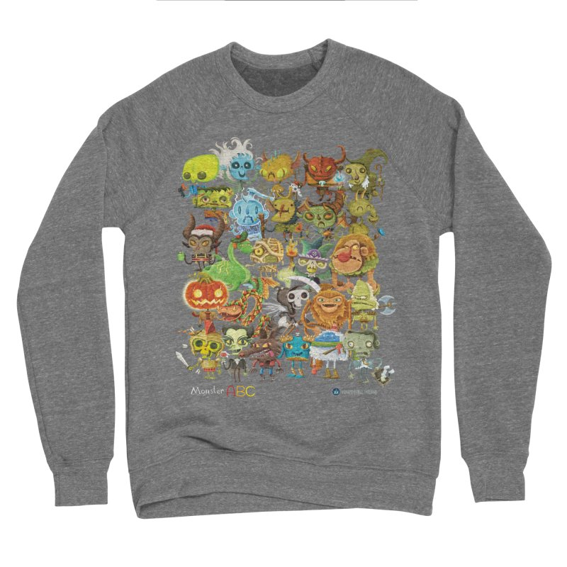 Monster ABC Women's Sponge Fleece Sweatshirt by Hazy Dell Press