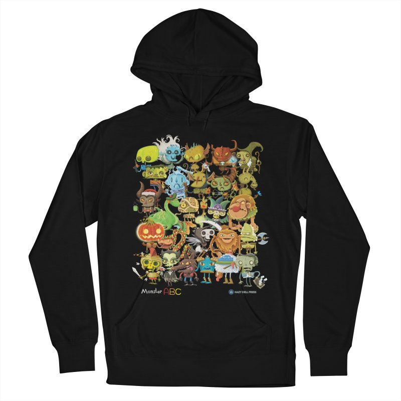 Monster ABC Women's French Terry Pullover Hoody by Hazy Dell Press