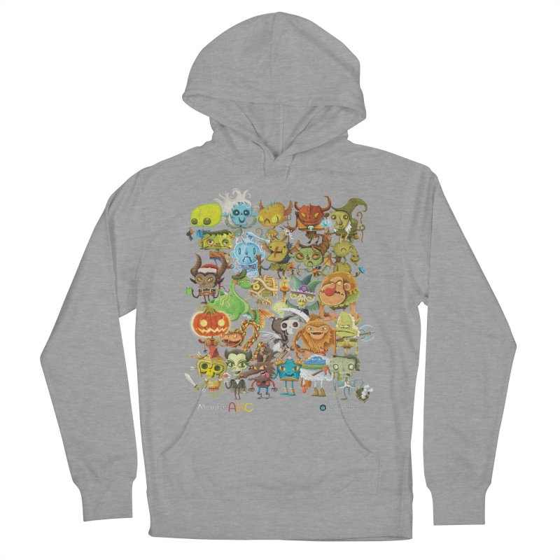 Monster ABC Men's French Terry Pullover Hoody by Hazy Dell Press