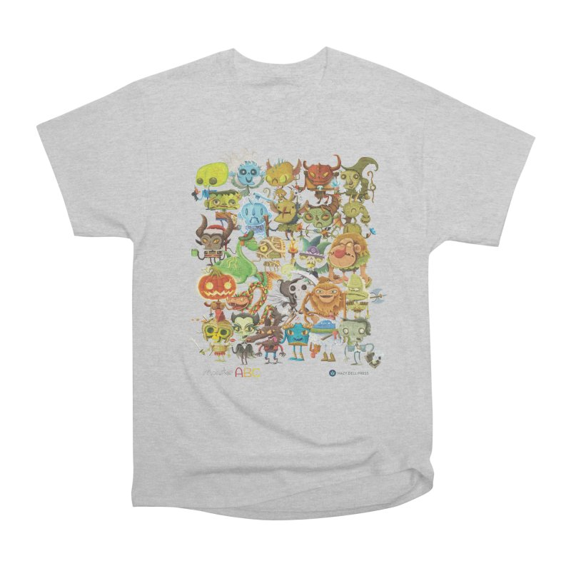 Monster ABC Women's Heavyweight Unisex T-Shirt by Hazy Dell Press