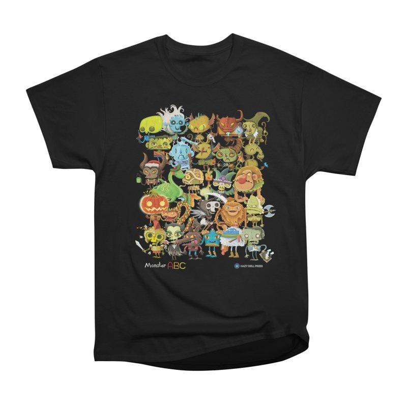 Monster ABC Men's Heavyweight T-Shirt by Hazy Dell Press
