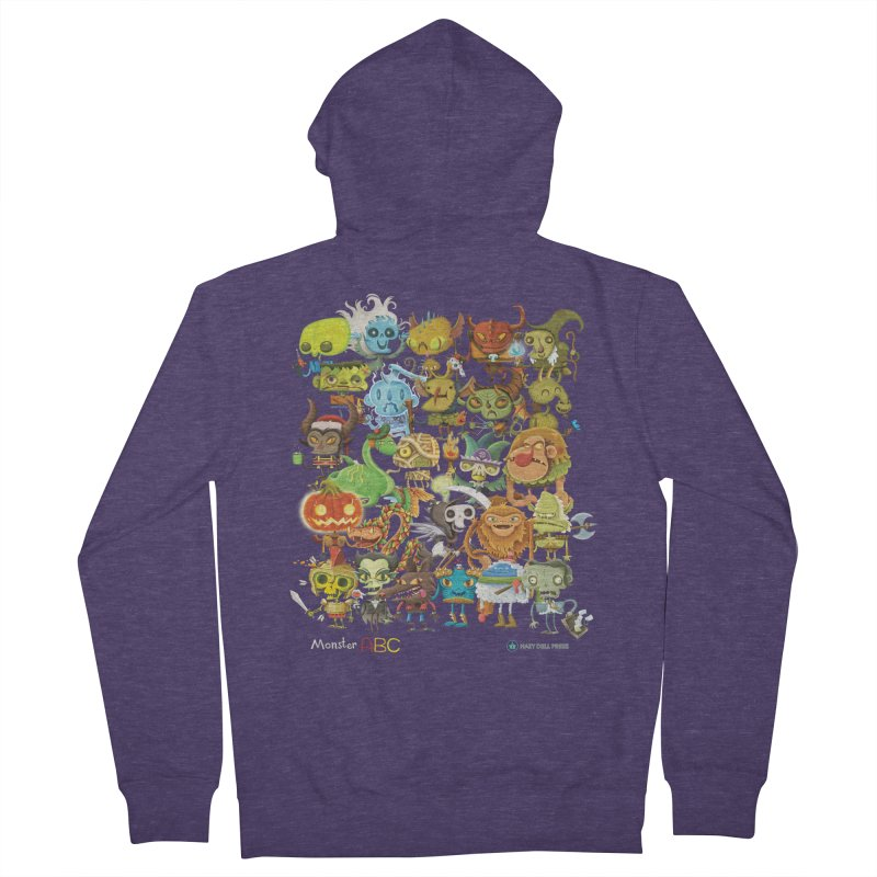 Monster ABC Men's French Terry Zip-Up Hoody by Hazy Dell Press