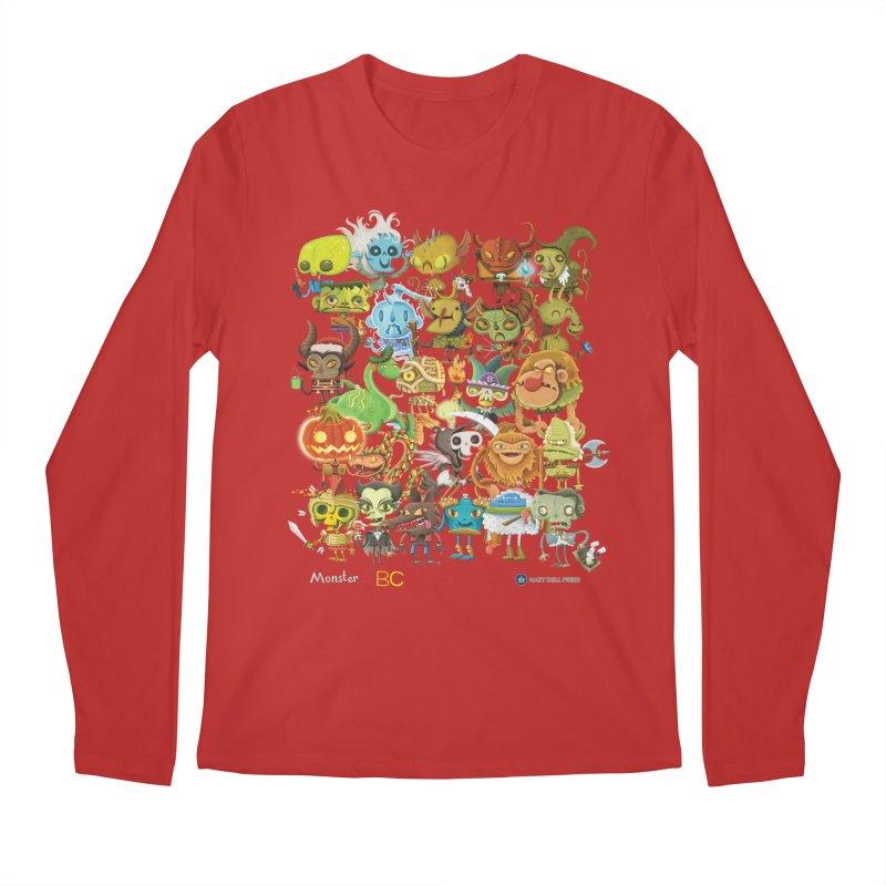 Monster ABC Men's Regular Longsleeve T-Shirt by Hazy Dell Press