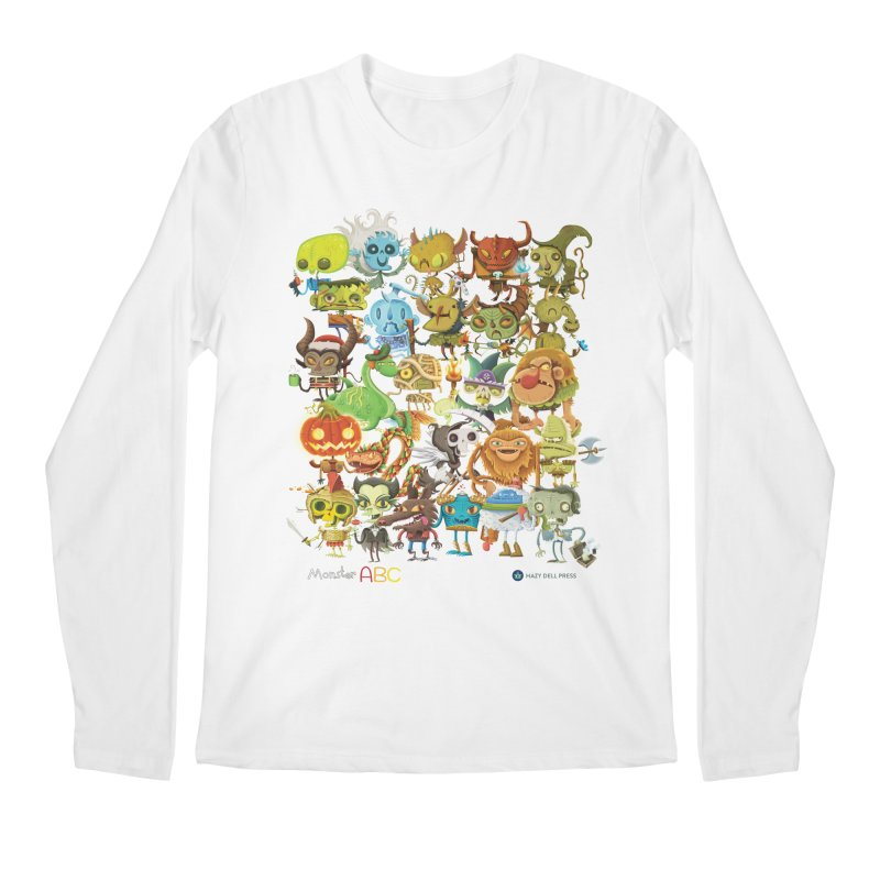 Monster ABC Men's Regular Longsleeve T-Shirt by Hazy Dell Press