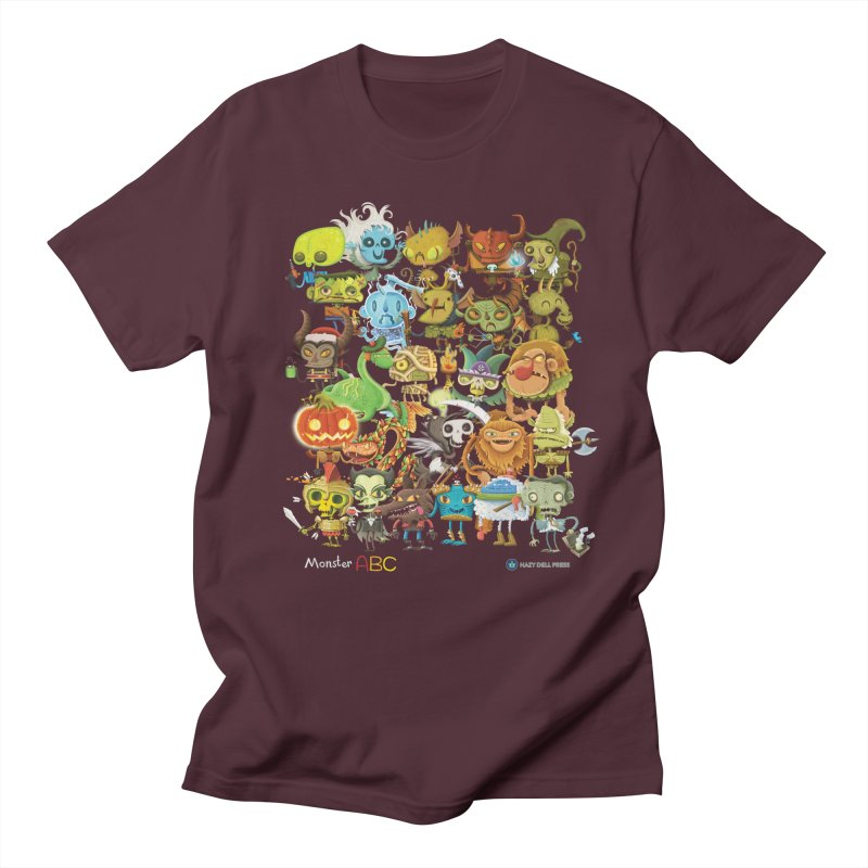 Monster ABC Men's Regular T-Shirt by Hazy Dell Press