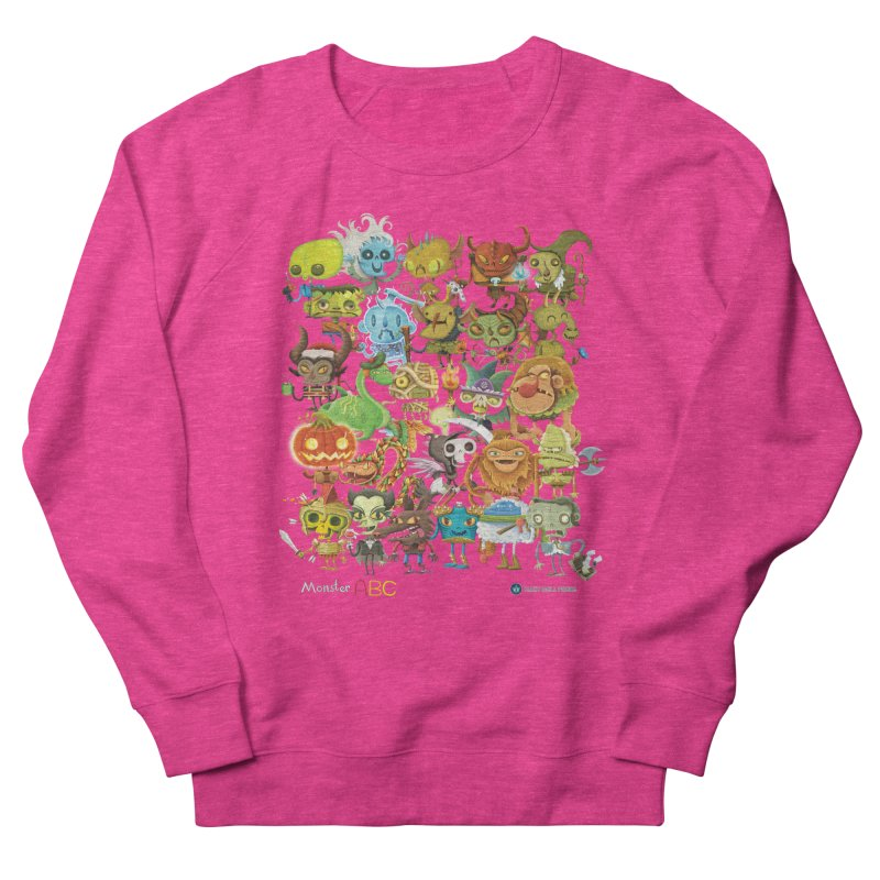 Monster ABC Women's French Terry Sweatshirt by Hazy Dell Press