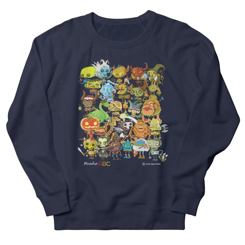 Monster ABC Men's French Terry Sweatshirt by Hazy Dell Press