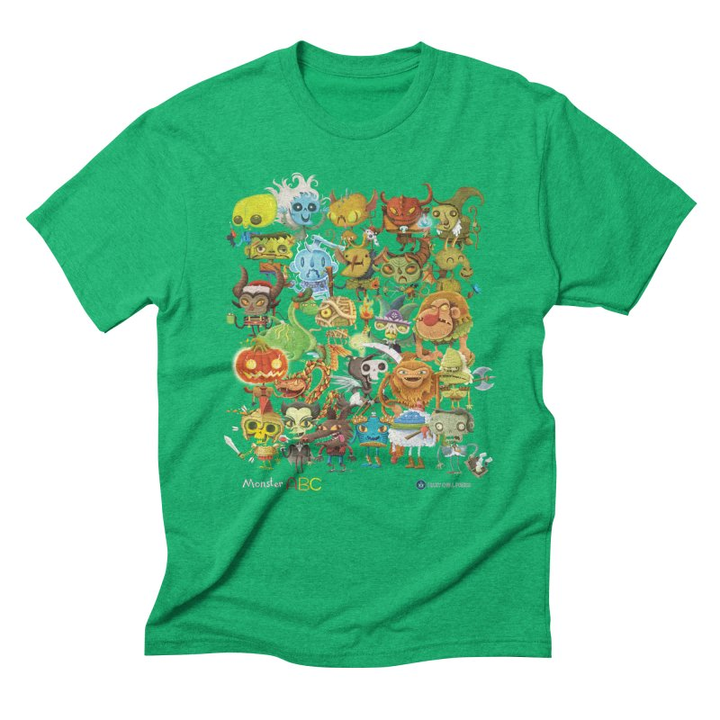Monster ABC in Men's Triblend T-Shirt Tri-Kelly by Hazy Dell Press