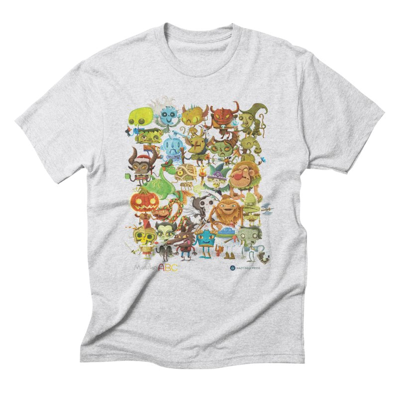 Monster ABC Men's Triblend T-Shirt by Hazy Dell Press