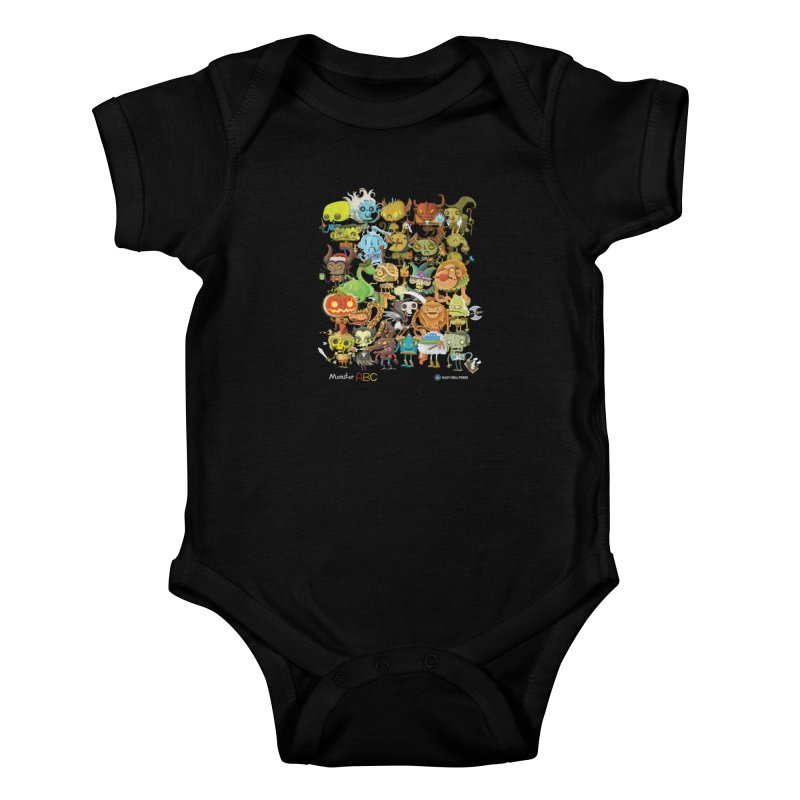 Monster ABC Kids Baby Bodysuit by Hazy Dell Press