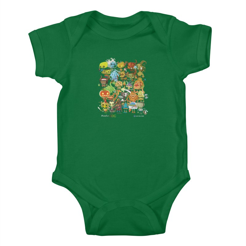 Monster ABC Kids Baby Bodysuit by Hazy Dell Press